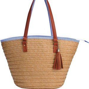 Sornean Straw Beach Bag